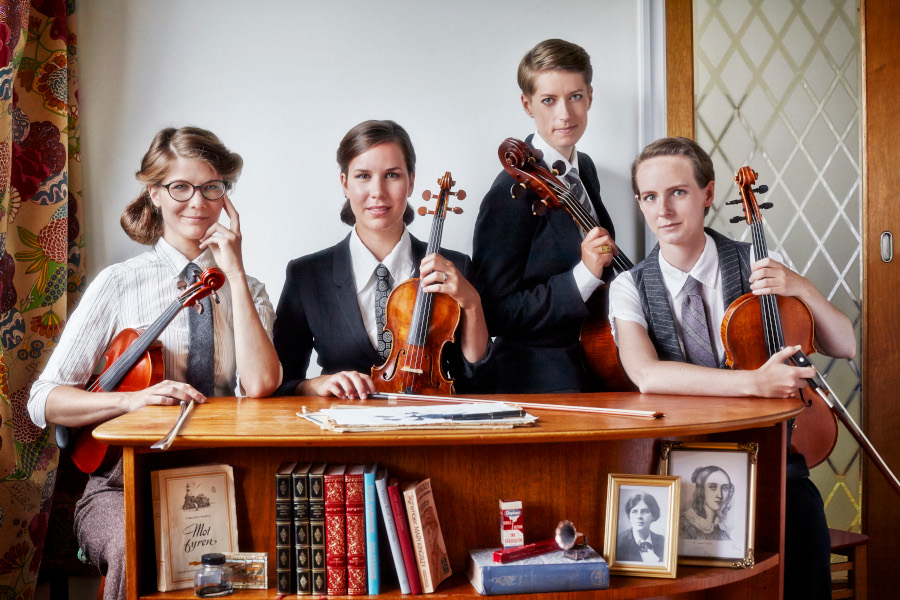 Vindla String Quartet på teatern
