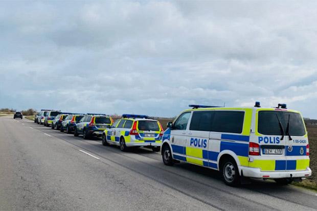 Massiv polisinsats i Landskrona