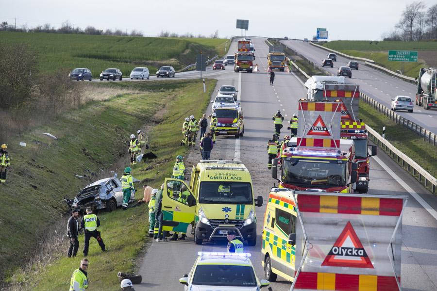 Rattfylla orsak till olycka på E6