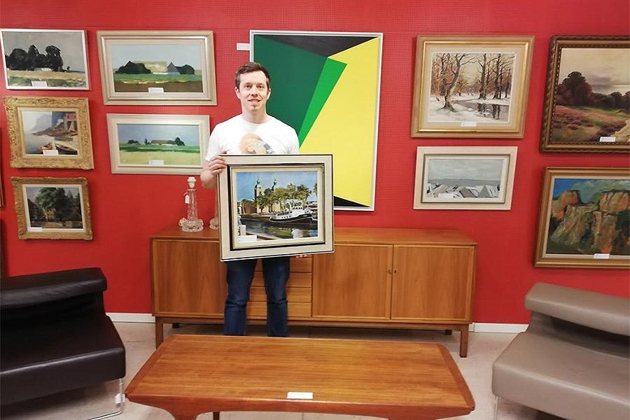 Lokal konst på auktion