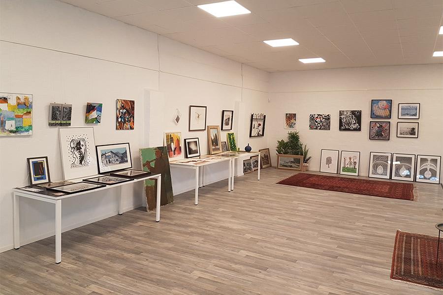 Gallerier i centrum har öppet i helgen
