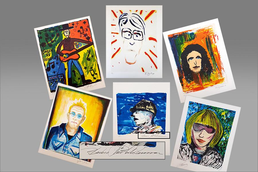 Artisteliten medverkar i stödauktion