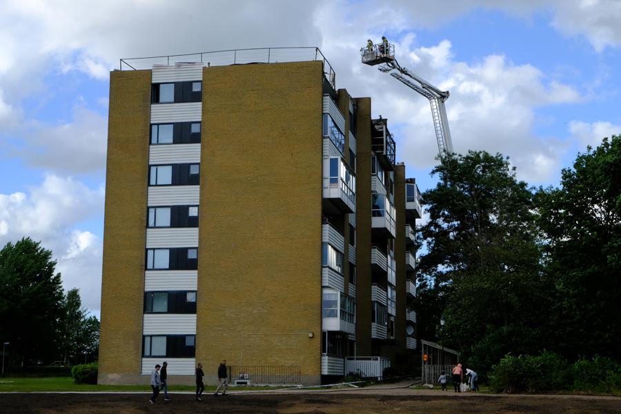 Ingen skadad vid branden på Silvergården