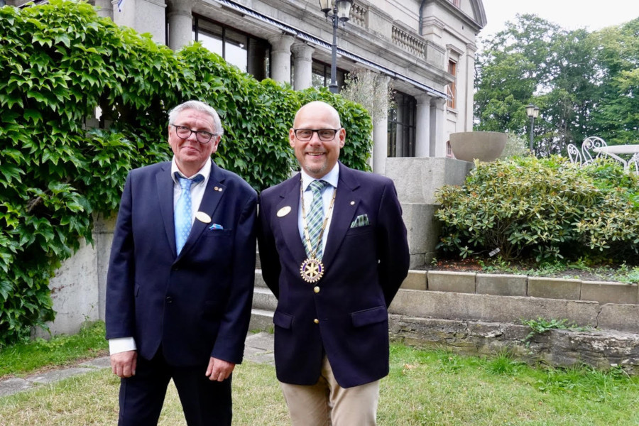 Presidentskifte i Landskrona Glumslöv Rotaryklubb