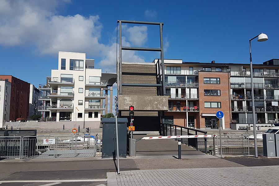 Reservdel saknas till bron över Nyhamn