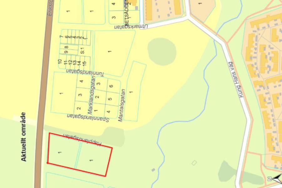 Här kan kommat att byggas 25 nya radhus