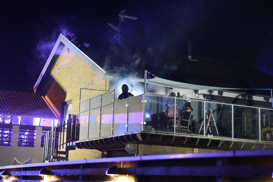 Brand i villa snabbt under kontroll