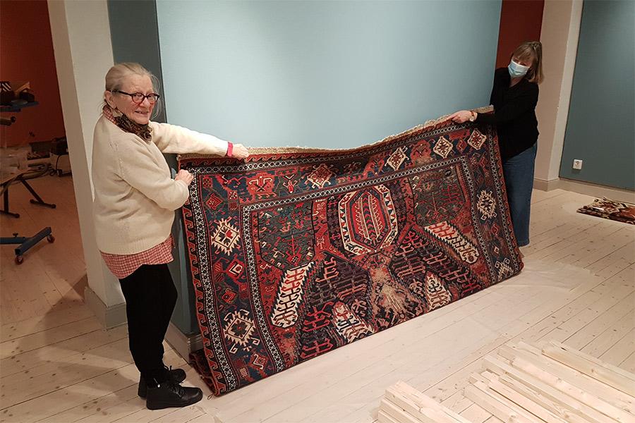 Kelim-mattor ställs ut på museet