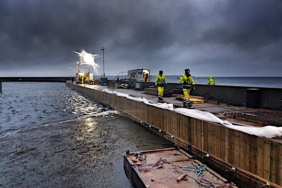 Hamnen i Borstahusen renoveras i etapper