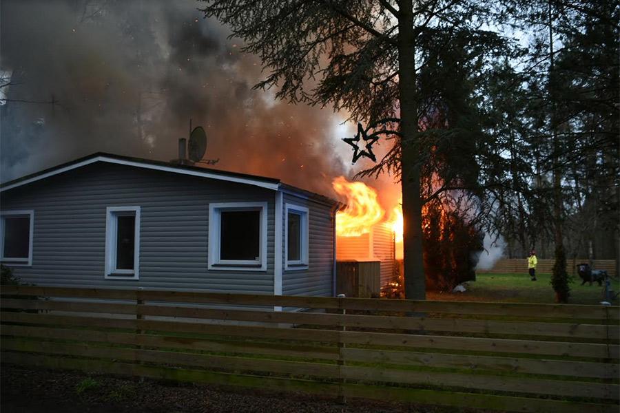 Villabrand i Saxtorp