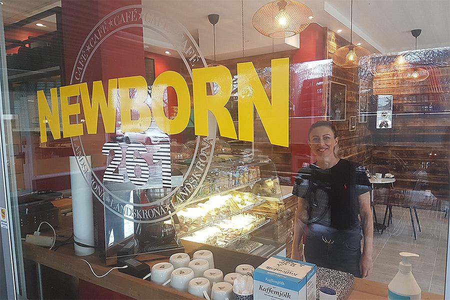 """""""Nyfött"""" kafé på Eriksgatan"""