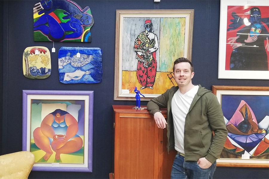 Modern konst i fokus på auktion