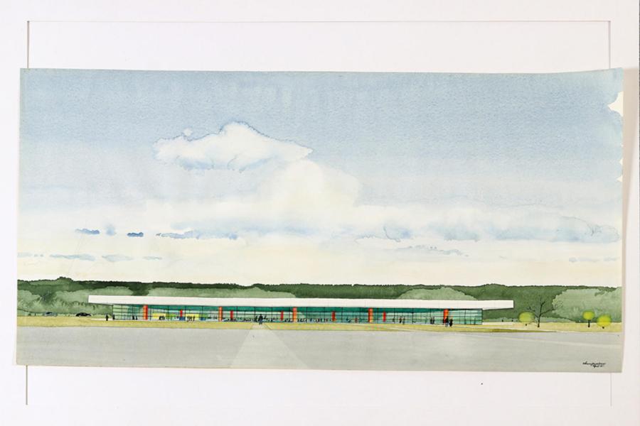 Ovanlig akvarell av Arne Jacobsen på auktion