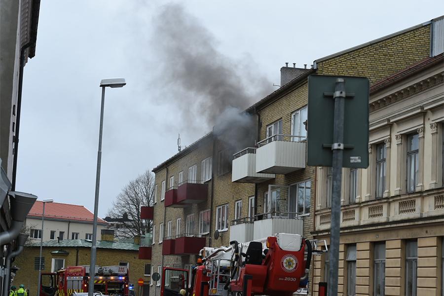 Brand på Stora Norregatan
