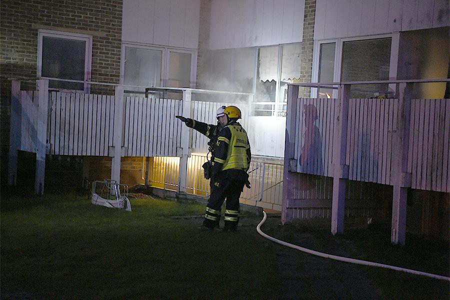 Brand i källare på Larvi