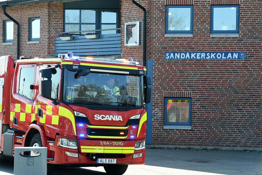 Tre anlagda bränder på Sandåkersskolan