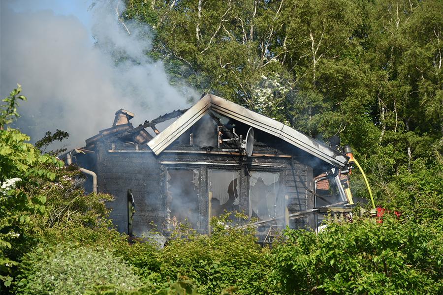 Hus i Sundvik förstört i brand