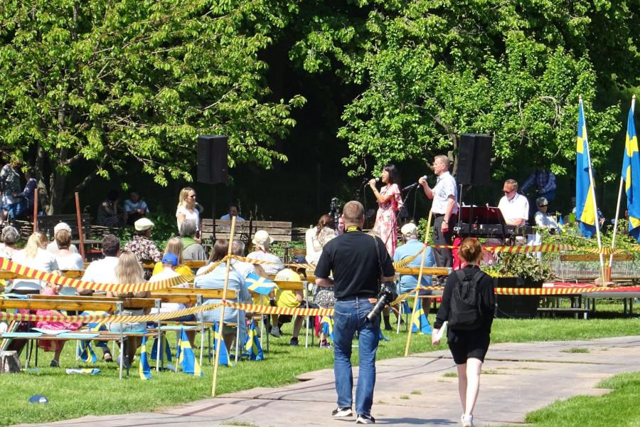 Nationaldagsfirande i härligt sommarväder