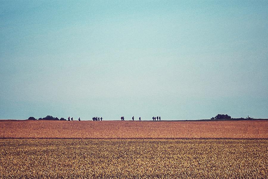 Pilgrimsvandrare vilar i Landskrona